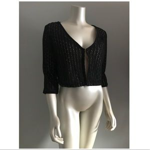 NWT Tulle Black and Beige Short Cardigan
